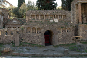 "Tomb of the Flavii. Necropolis outside the Nucerian gate. 50-€""30 B.C.E. Pompeii."