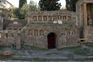 "Tomb of the Flavii. Necropolis outside the Nucerian gate. 50-€""30 B.C.E. Pompeii."